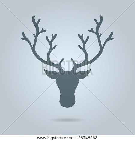 Deer head. Hand drawn vector stock illustration