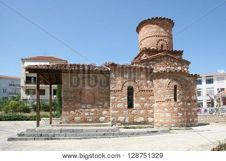 Church of Our Lady Kumpelidiki (XI cent.). Kastoria Greece