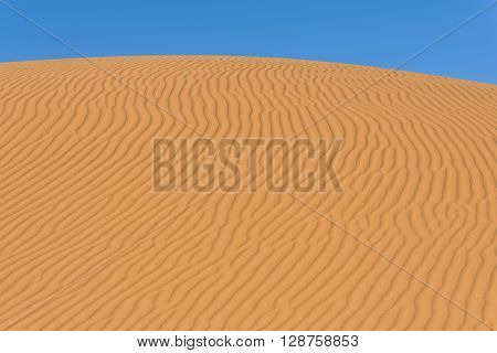 Sand dunes in the sahara desert Morocco
