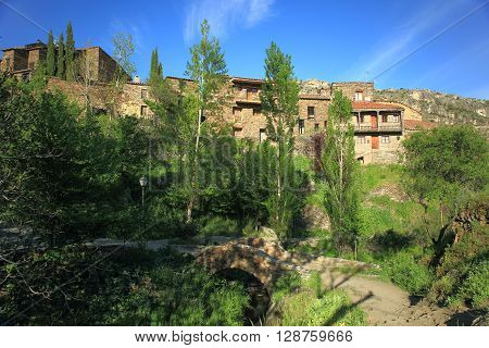 Village of Patones de Arriba. Madrid's community. Spain