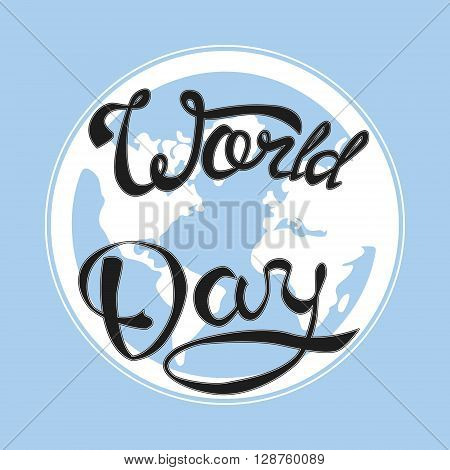 World day card. Hand drawn vector stock illustration