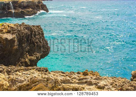 Ocean and Rocks in The Republica Dominicana