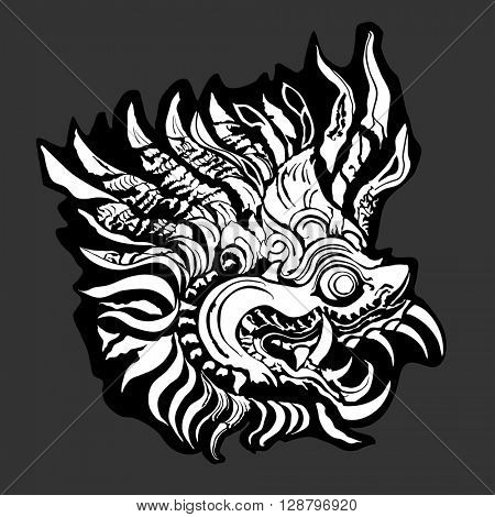 Barong is a lion-like creature and character in the mythology of Bali, Indonesia