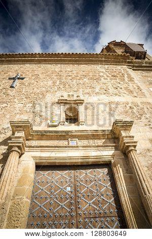 Nuestra Se?ora de la Asunci?n parish church in Caminreal, Teruel, Spain poster