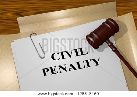 Civil Penalty Legal Concept