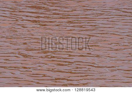 The Nan River reddish brown in Thailand