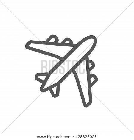 Black Plane Outline Vector Photo Free Trial Bigstock