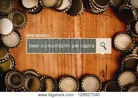 Beer consumption per capita definition in internet glossary - web search bar glossary term