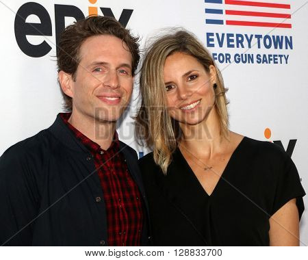 LOS ANGELES - MAY 3:  Glenn Howerton, Jill Latiano at the Under the Gun Premiere at the Samuel Goldwyn Theater on May 3, 2016 in Beverly Hills, CA