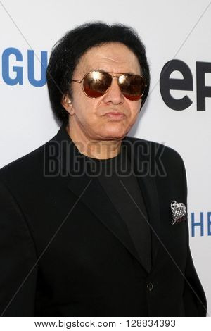 LOS ANGELES - MAY 3:  Gene SImmons at the Under the Gun Premiere at the Samuel Goldwyn Theater on May 3, 2016 in Beverly Hills, CA