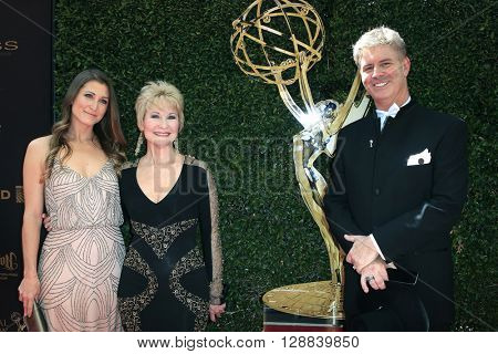 LOS ANGELES - May 1: Gabrielle Stone, Dee Wallace, Harlan Boll at The 43rd Daytime Emmy Awards Gala at the Westin Bonaventure Hotel on May 1, 2016 in Los Angeles, California