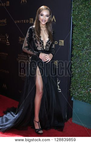 LOS ANGELES - May 1: Reign A'Rei Edwards at The 43rd Daytime Emmy Awards Gala at the Westin Bonaventure Hotel on May 1, 2016 in Los Angeles, California