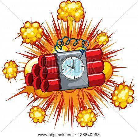 Time bomb on white background illustration