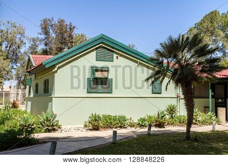 SDE BOKER ISRAEL - MARCH 18: House of David Ben-Gurion in Kibbutz Sde Boker Israel on March 18 2016