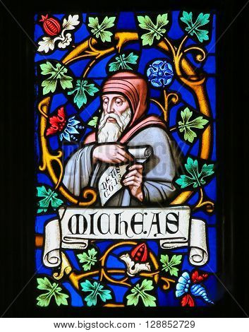 Stained Glass - The Prophet Micah