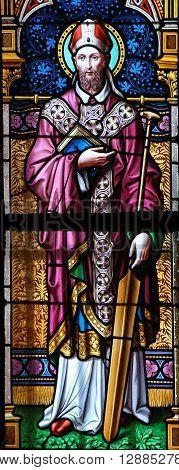 Stained Glass - St. Adalbert Of Prague