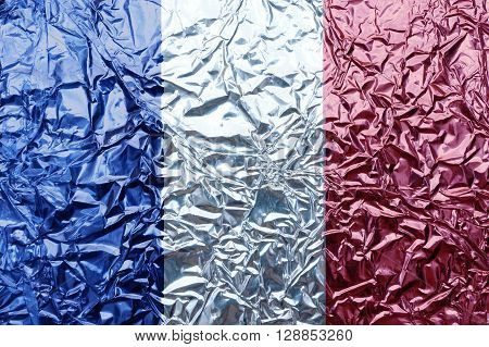 A illustration of French flag (background or texture).