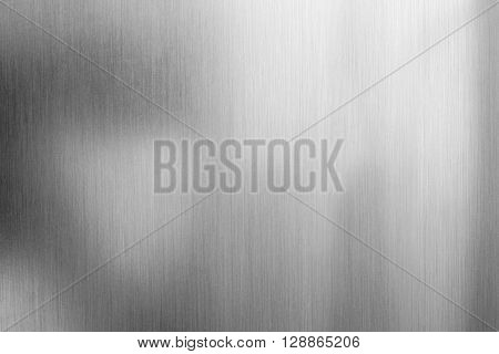Aluminium brushed silver metallic background or texture