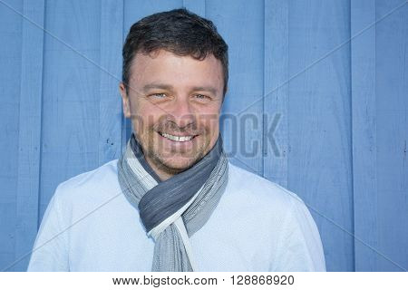 Handsome Smiling Man Inviting By His Smile