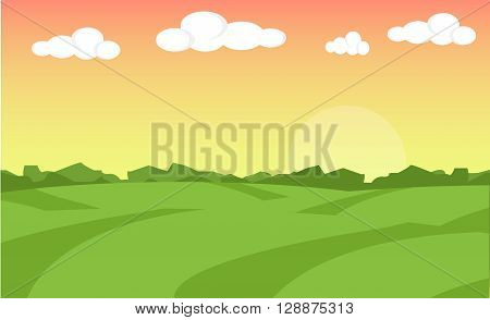 Farm flat landscape. Organic food concept for any design. Farm landscape concept. Farm landscape illustration. Farm landscape background. Farm background. Farmland concept. Farmland illustration
