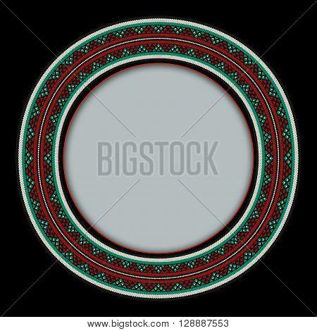 A Detailed Circular Sadu Style  Weaving Frame