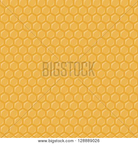 Seamless geometric pattern with honeycombs. Vector illustration honey comb and honeycomb seamless pattern. Golden honey comb bee background sweet wax pattern texture beeswax shape.