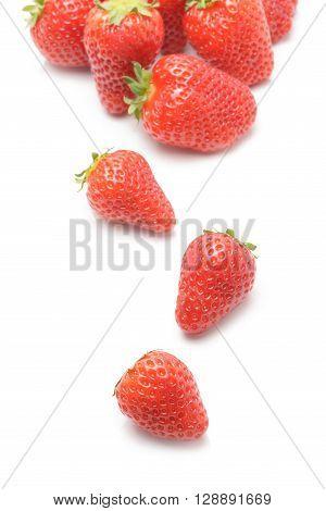 Fresh strawberry berry fruit isolated on white background