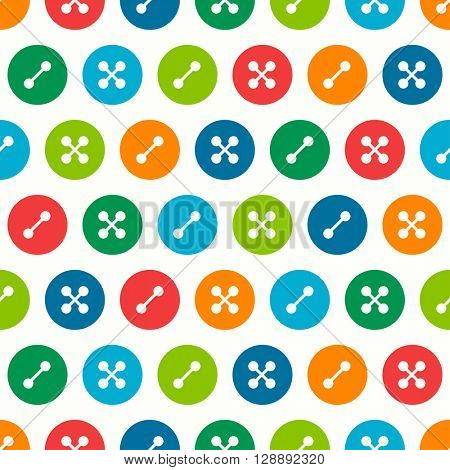 Vector seamless pattern with buttons