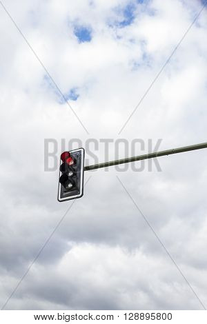 Image Of Traffic Lights While Red Light On