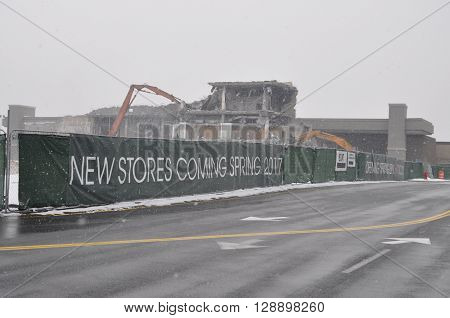 Snowy Scene with New Stores Coming Spring 2017