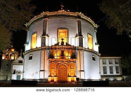 Serra do Pilar Monastery at night, Vila Nova de Gaia, Porto, Portugal
