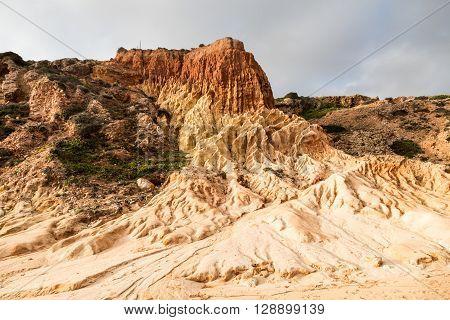 Sandstone Patterns Formed By Erosion