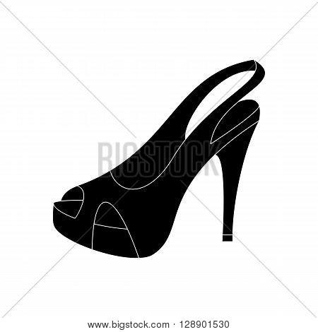 High heels illustration. Shoes illustration. Shoes icon. Vector illustration