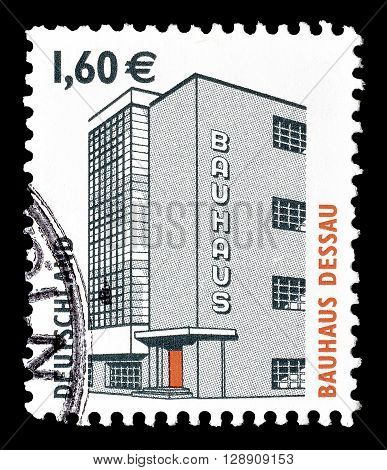 GERMANY - CIRCA 2004 : Cancelled postage stamp printed by Germany, that shows Bauhaus Dessau.
