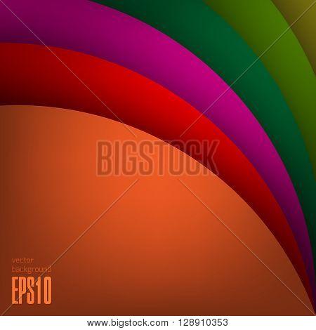 Arc modern vector background for poster, book, brochure, website design or presentations. Arc layered shape base.