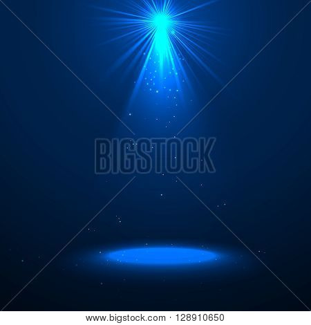 Vector Spotlight Background. Spotlight Scene. Light Effect. Spotlight Illustration with Empty Space