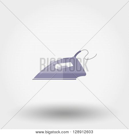 Iron. Icon for web and mobile application. Vector illustration on a white background. Flat design style.