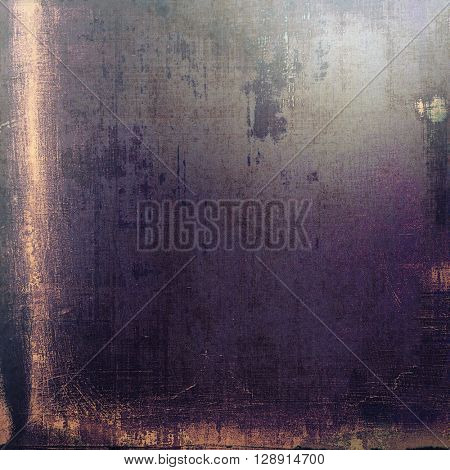 Vintage elegant background, creased grunge backdrop with aged texture and different color patterns: yellow (beige); gray; purple (violet); pink; black