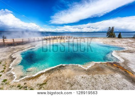 Black Pool, West Thumb Geyser Basin. Yellowstone National Park, Wyoming - USA