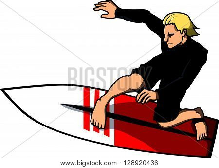 Surfer boy design illustration vector illustration design eps 10