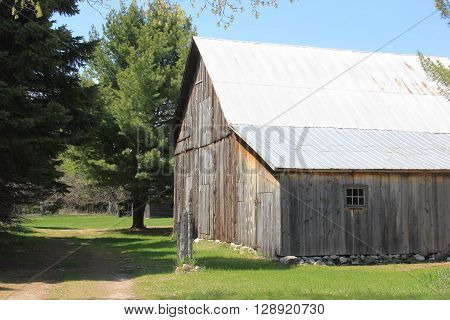 A group of farm building in Port Oneida Historic Farm District, Sleeping Bear Dunes National Lakeshore, Michigan
