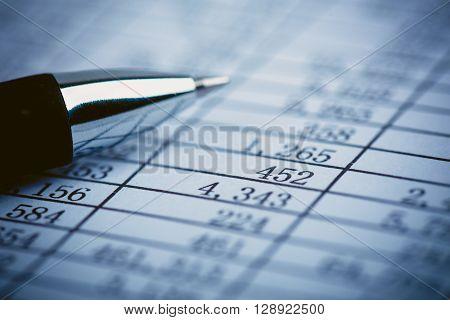 Closeup Shot Of Balance Sheet