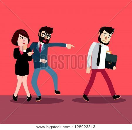 Business man bullying their friend .eps10 editable vector illustration design