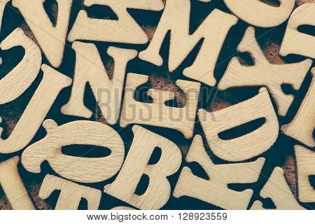 Wooden Letters Background
