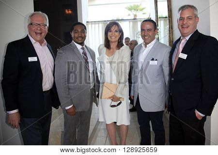 PALM SPRINGS - APR 27: Louie Anchondo, Linda Gray at a cultivation event for The Actors Fund at a private residence on April 27, 2016 in Palm Springs, California