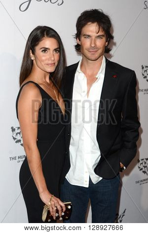 LOS ANGELES - MAY 7:  Nikki Reed, Ian Somerhalder at the Humane Society Of The United States LA Gala at the Paramount Studios on May 7, 2016 in Los Angeles, CA