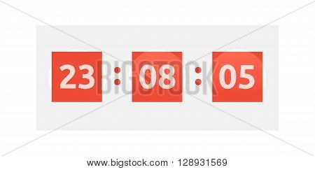 Opening soon. Big sale countdown timer and scoreboard numbers. Time clock
