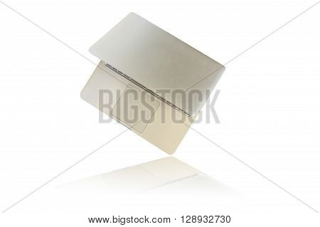 notebook computer isolated on white background .