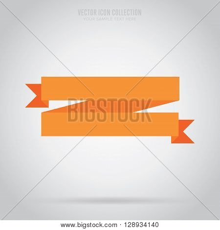 Flat vector ribbon. Design ribbon. Blank badge. Abstract ribbon template. Retail ribbon. Web sticker. Blank ribbon. Isolated ribbon. Colorful ribbon. Badge ribbon. Ribbon icon. Blank label. Graphic element. Blank banner ribbon. Origami ribbon.