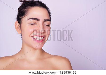 Closeup Portrait Of Beautiful Hispanic Young Woman
